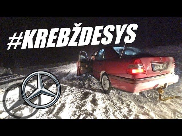Senelio Mercedes-benz DRIFT'ui. Žiemos DRIFTO patarimai ir RIBOTUVAI
