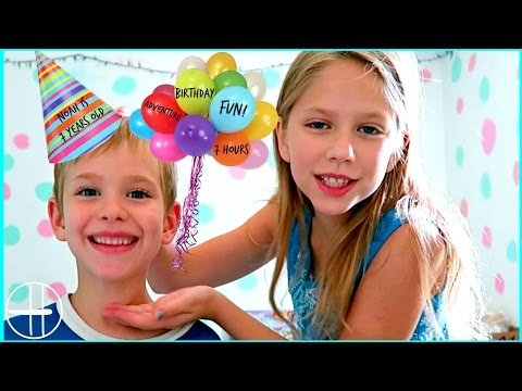 7 hours of BIRTHDAY FUN adventure Noah's 7th birthday SnapChat Saturday family fun hopes vlogs