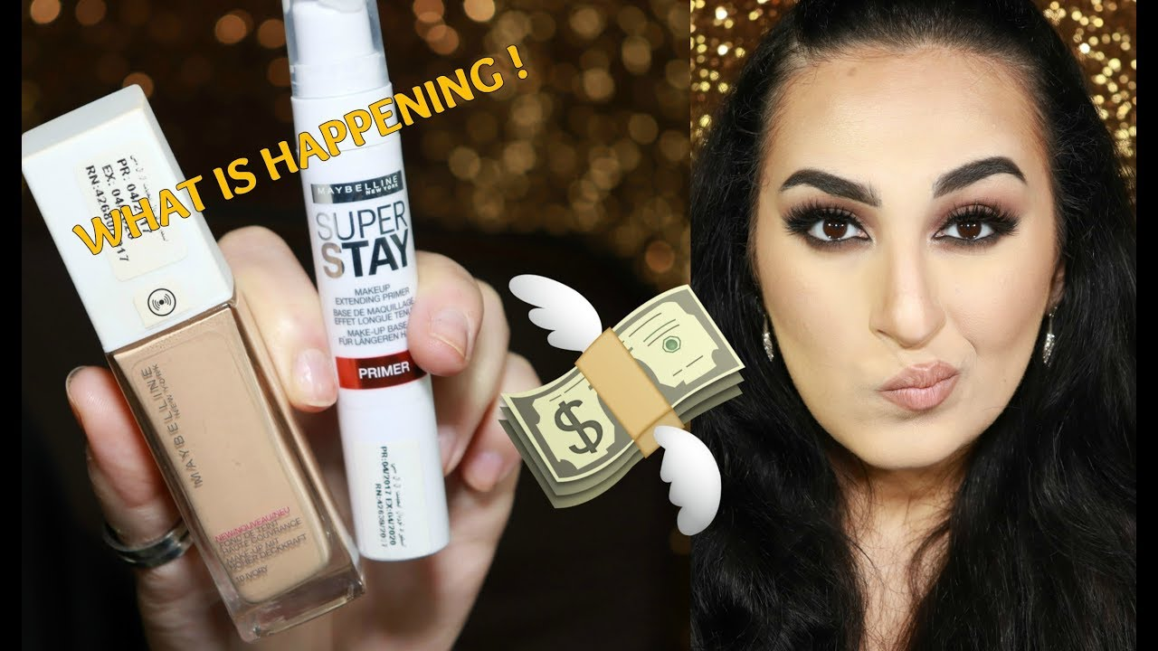 8f9548b42 Maybelline 24 hr superstay foundation review & wear test | Makeup ...