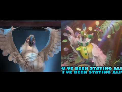Rio  and Rio 2 both Nigel songs playing at the SAME TIME