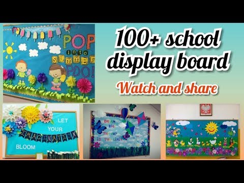 100+ School notice board decoration ideas || amazing display board ideas for school