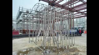 천막시공 1군건설사 폐기물보관소 자바라천막 이동형천막 …