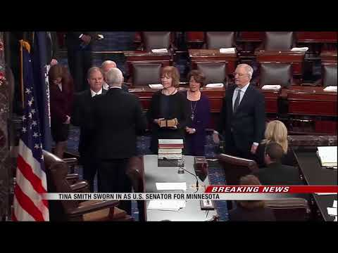 News   Democrats Tina Smith of Minnesota and Doug Jones of Alabama sworn in as senators