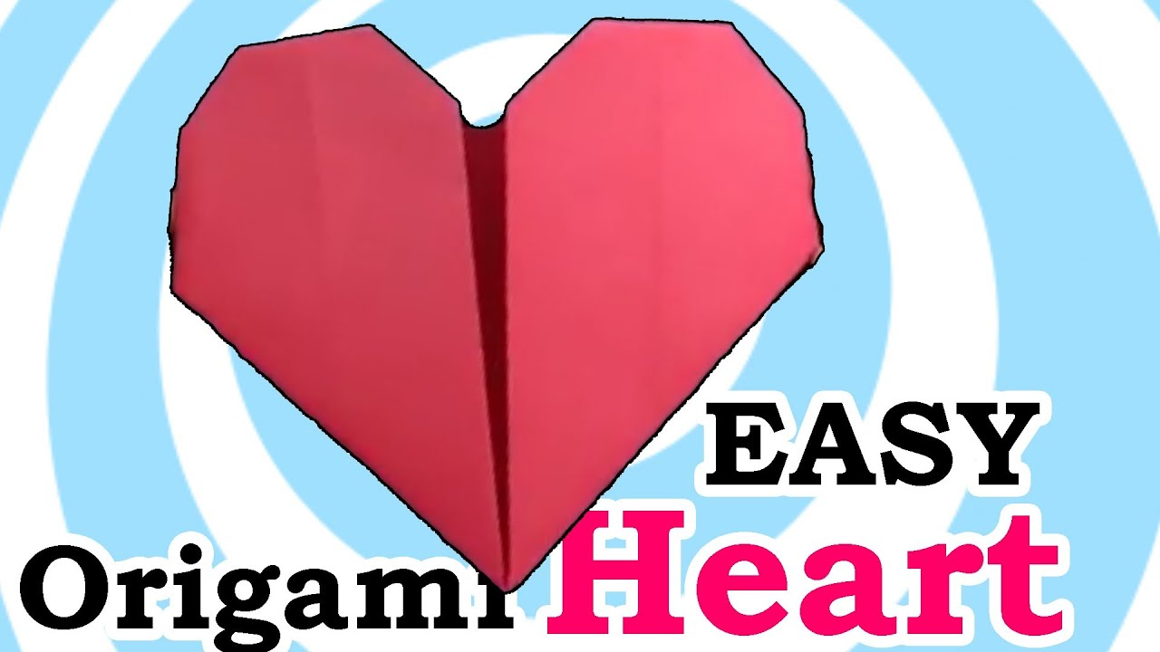 Easy Origami Heart - YouTube - photo#18