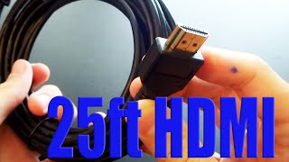 25 Foot HDMI Cable Unboxing - Review - Test | $6 eBay