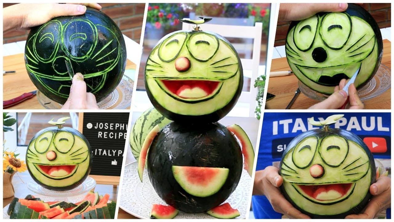 1 Watermelon Challenge - Super Watermelon Doraemo Decoration Ideas