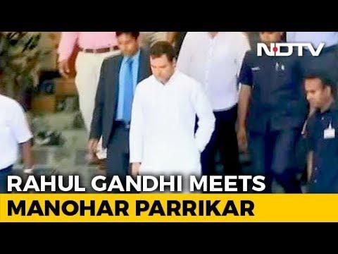 """Rahul Gandhi Meets Manohar Parrikar, Day After """"Rafale Secrets"""" Attack"""