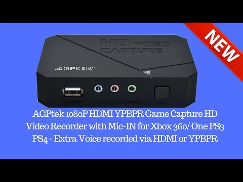 How to Record Video Game Consoles with a AGPtek Capture Card 2017