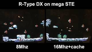 R-Type DX (Atari STE) running at 16Mhz