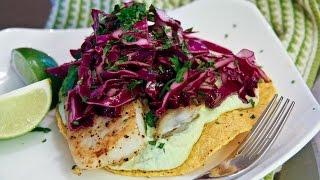 Wasabi Edamame Fish Tostadas Recipe - Chef Julie Yoon