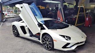 2017 Lamborghini Aventador S LP740-4 LOUD BEAST at lamborghini Miami (Behind Unveiling Scenes)