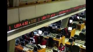 アフリカ ナイジェリアの証券会社、証券取引所の風景