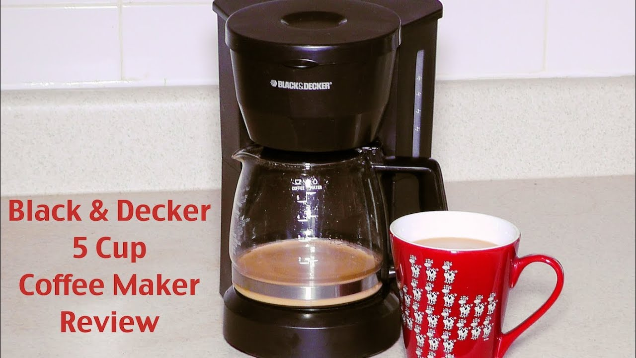 Black and Decker Coffee Maker Review - DCM600W 5-Cup Drip Coffeemaker - YouTube