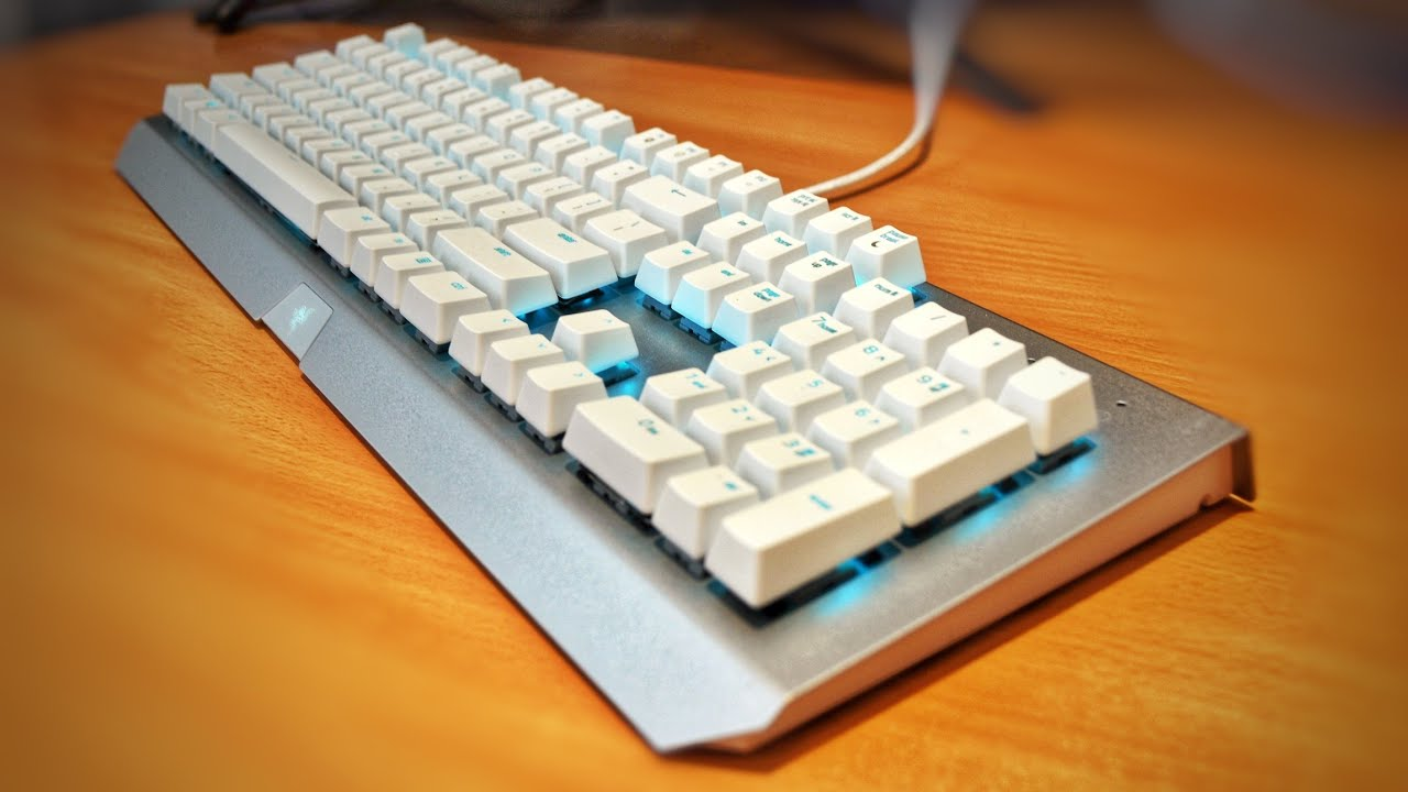 e1ad5dd25ea ASMR POV - Razer Blackwidow X Chroma Mercury White Keyboard Unboxing ...