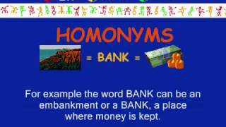 FunEasyEnglish.com Classroom Vocabulary Homonyms