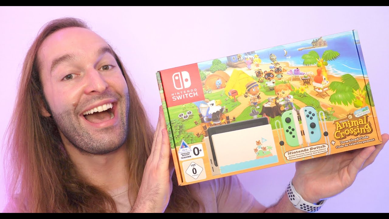 Limited Edition Animal Crossing Nintendo Switch Unboxing ...