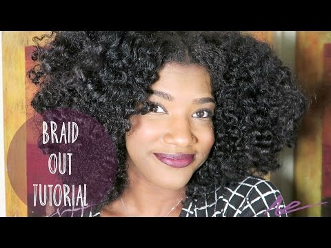 Natural Hair | Braid Out Tutorial - YouTube
