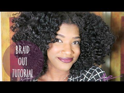 natural hair braid tutorial
