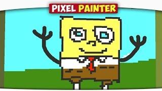 ч.03 Губка БОБ, Свинка и Пинки Пай - Minecraft Pixel Painter