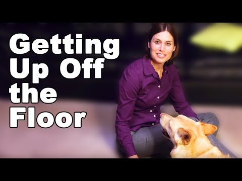 Getting Up Off the Floor Correctly - Ask Doctor Jo