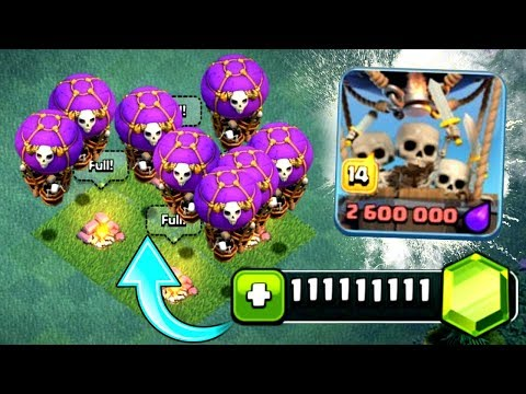 THIS COST WAY TO MANY GEMS!! HUGE DROP SHIP GEM SPREE - Clash Of Clans