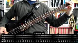 MOTLEY CRUE - Take me to the top (bass cover w/ Tabs) [Drop D tuning]