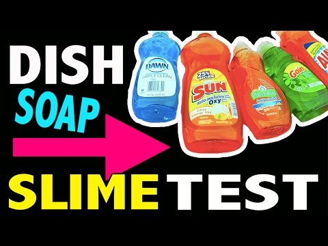 Dish Soap Slime Test - Without Borax, Liquid Starch, Cornstarch, Baking Soda