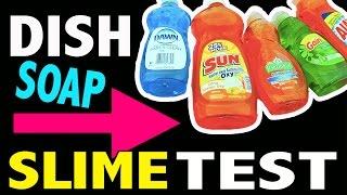 Dish Soap Slime Test - Without Borax, Liquid Starch, Cornstarch, Baking Soda