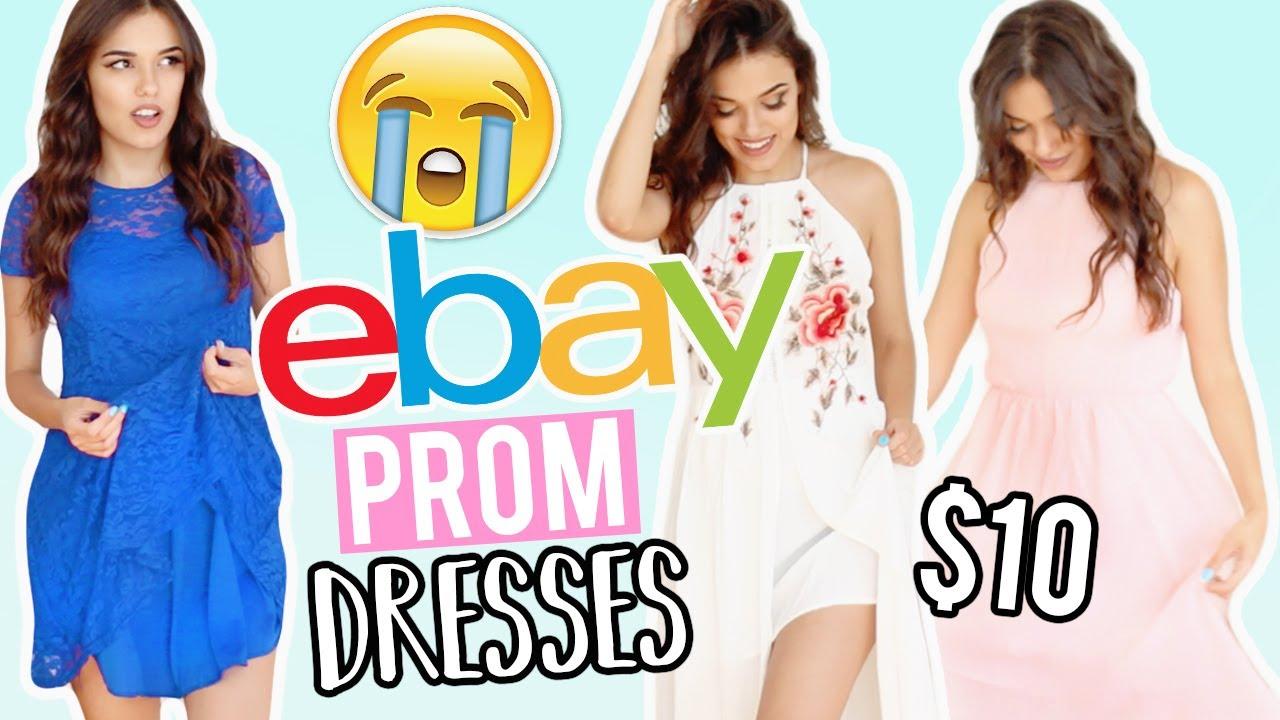 2dda373772 TRYING ON  10 EBAY PROM DRESSES ! eBay + Amazon - YouTube