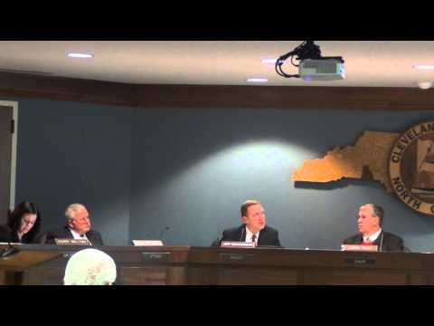 Cleveland County Commissioners Meeting 12-16-2014