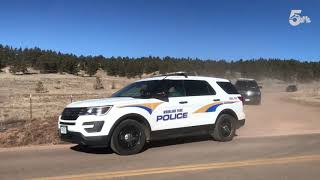 Police convoy leaves Frazee property
