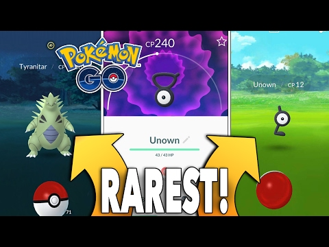 RAREST GEN 2 POKEMON IN POKEMON GO! Unown & Tyranitar Rarest Catches!!