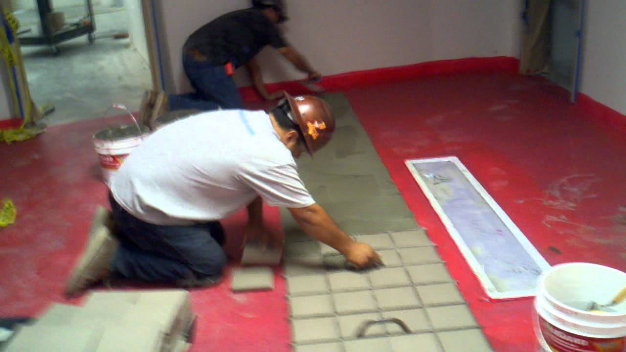 WhatchadoingPMCWest Joel And Luis Setting Quarry Tile YouTube - Cory tile flooring