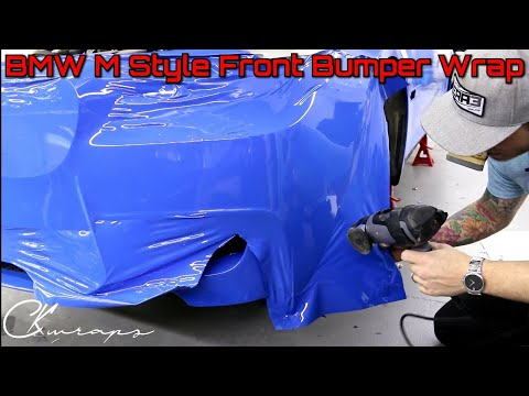 Professional Level How To Wrap A BMW M Series Front Bumper Full Length Point Of View