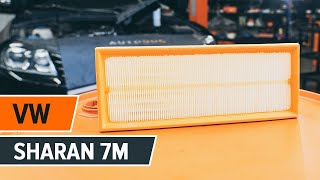 Replacing Air Filter on VW SHARAN: workshop manual