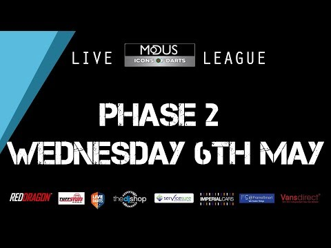 The LIVE MODUS ICONS OF DARTS LEAGUE PHASE 2: WEDNESDAY 6TH MAY