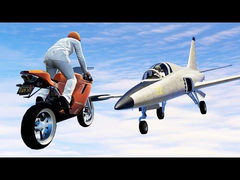 PLANES vs. MOTOR BIKES! (GTA 5 Funny Moments)