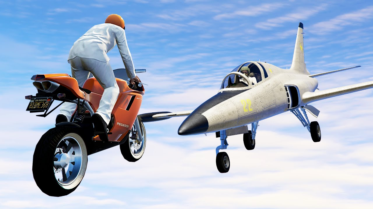 Planes Vs Motor Bikes Gta 5 Funny Moments Youtube