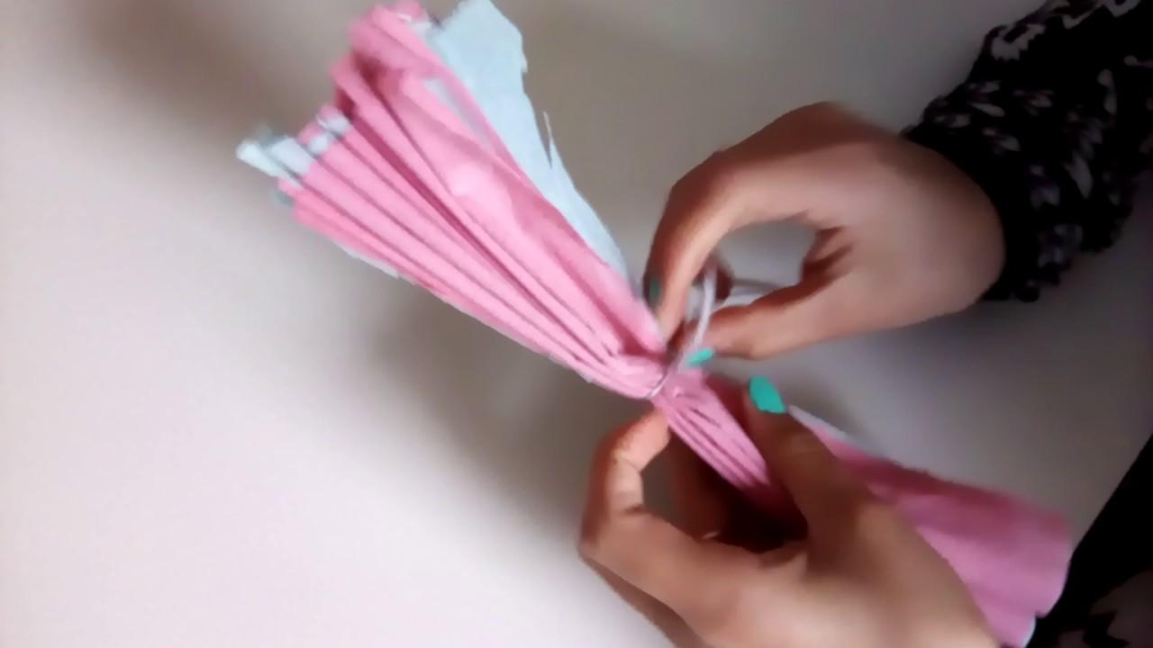Comment Faire Une Fleur En Papier Crepon 1 Ere Video Serie Diy Youtube