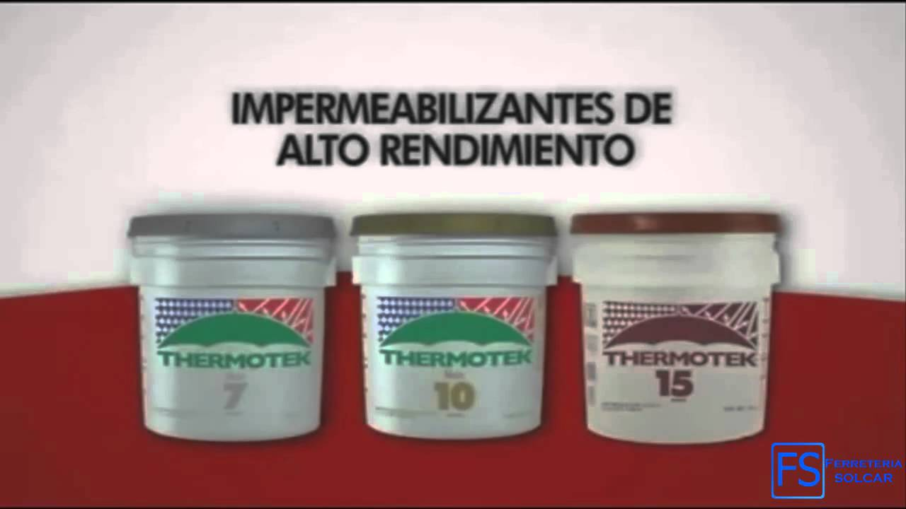 C mo aplicar impermeabilizante thermotek youtube for Impermeabilizante para estanques de agua