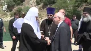 Orthodox Patriarch of Moscow visits the Holy Mountain Athos
