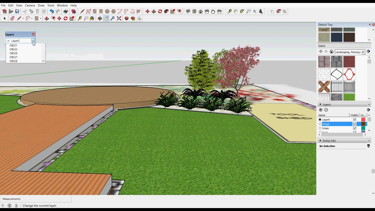 Use the free version of SketchUp to model landscape ...