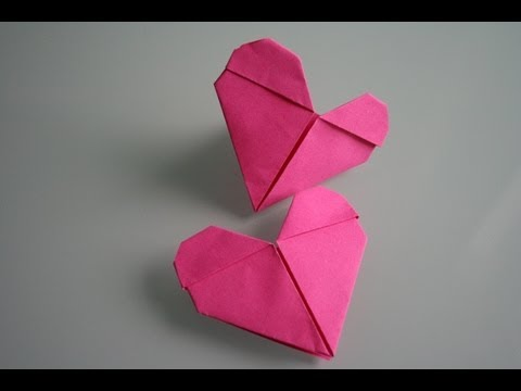 origami herz heart youtube. Black Bedroom Furniture Sets. Home Design Ideas