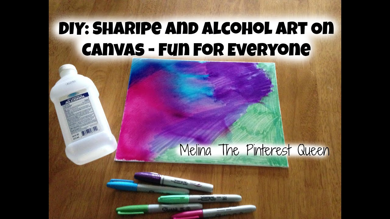 Diy Sharpie And Alcohol Art On Canvas Fun For Everyone