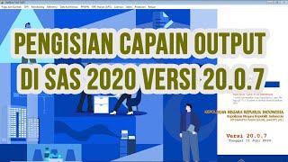 Contoh Pengisian Capaian Output Di Sas 2020 Versi 20.0.7