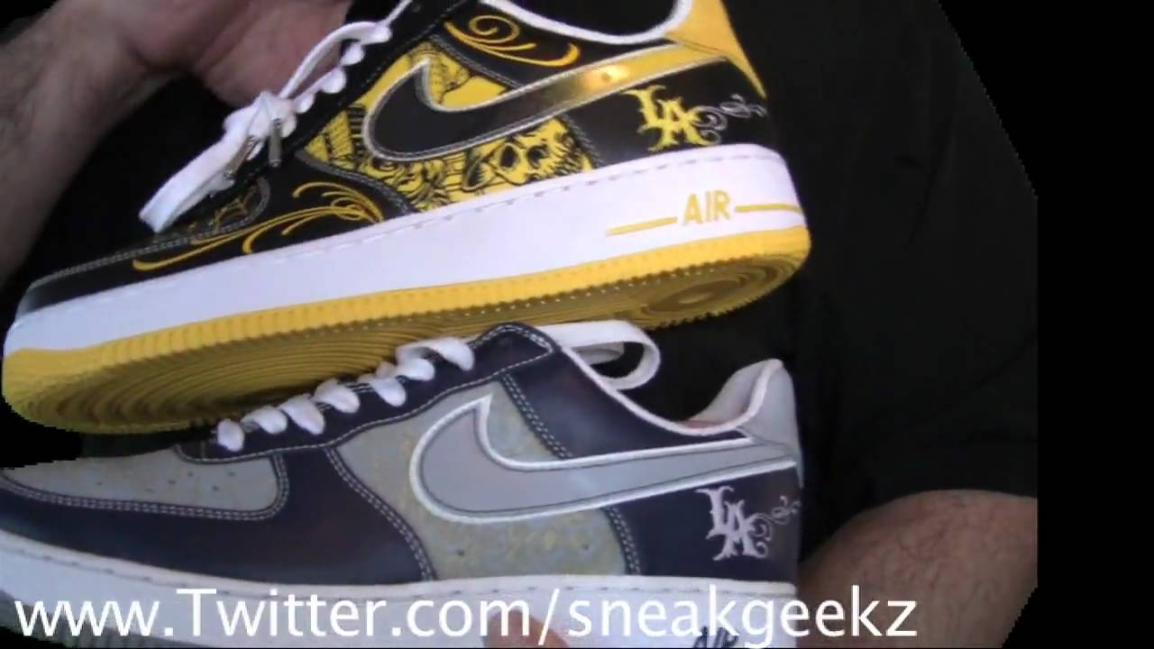 Nike Metallic Air Force 1 Sneakers Shoes WU221206 The RealReal