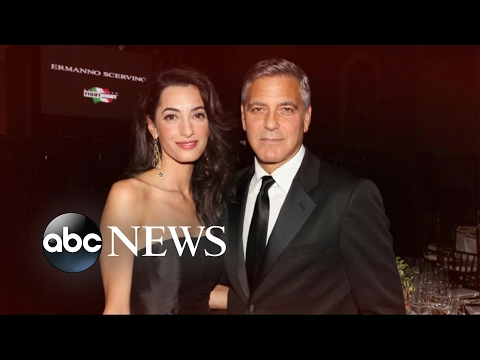 Clooney family welcomes twins Ella and Alexander