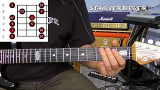 Gitarre lernen - Die Tonleitern - Die Pentatonik - Fingersatz4