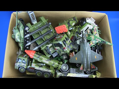Box Of Military Vehicles Toys ! Military Trucks,Airplanes,Ships,Tank,Rocket Launcher L Army Toys