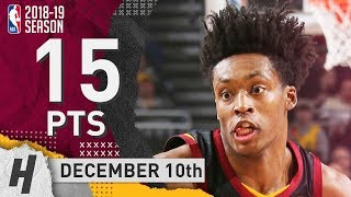 Collin Sexton Full Highlights Cavaliers vs Bucks 2018.12.10 - 15 Pts, 2 Ast, 4 Rebounds!